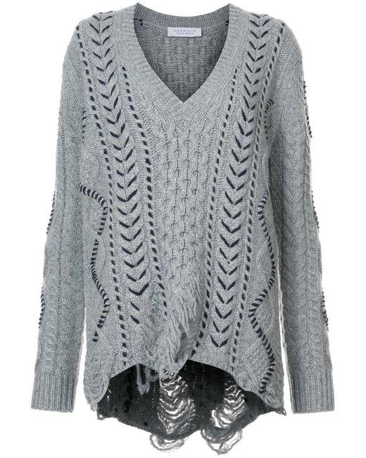 Gabriela Hearst | Gray V-neck Sweater | Lyst