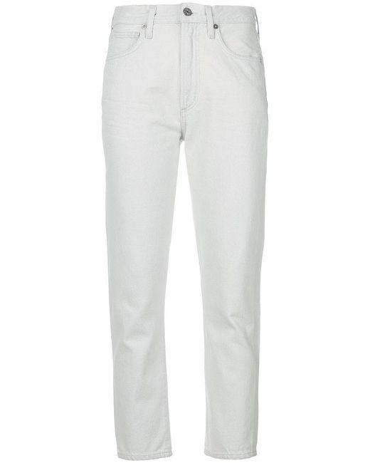 Citizens of Humanity - White High Rise Slim Jeans - Lyst