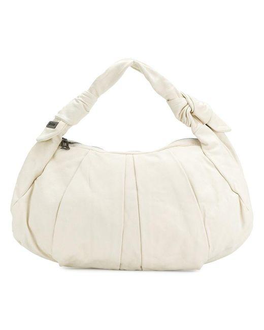 John Galliano - White Zipped Shoulder Bag - Lyst