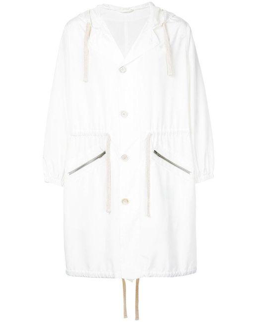 Cerruti 1881 - White Hooded Rain Coat for Men - Lyst