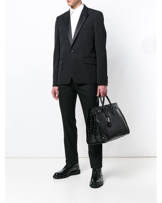 13e8a98a5bd ... Saint Laurent - Black Sac De Jour Tote for Men - Lyst ...