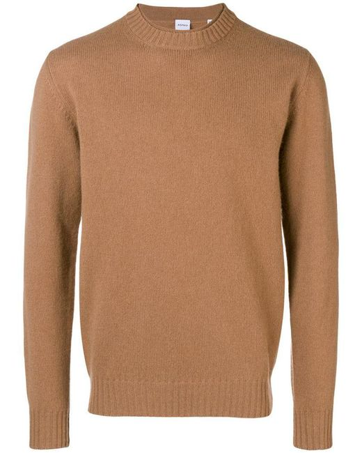 Aspesi - Brown Round Neck Jumper for Men - Lyst