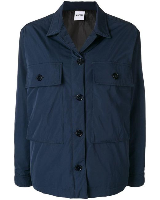 Aspesi - Blue Big Pockets Jacket - Lyst
