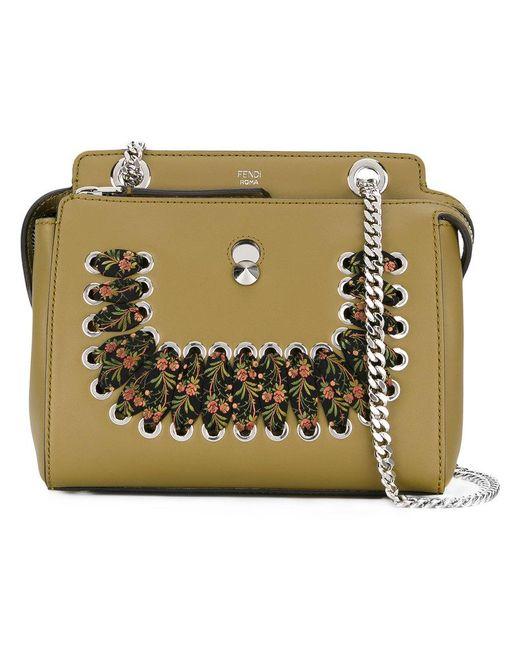 Fendi - Green Structured Scarf Bag - Lyst