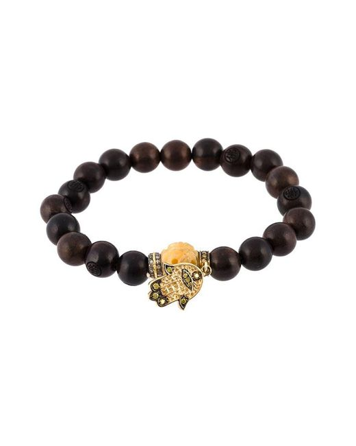 Loree Rodkin - Brown Bead Diamond Hamsa Bracelet - Lyst