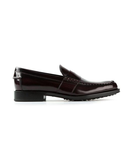 Tod's   Red Classic Loafers for Men   Lyst