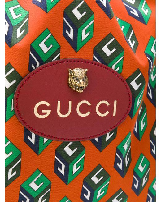 Gucci Gg Wallpaper Drawstring Backpack for Men Lyst