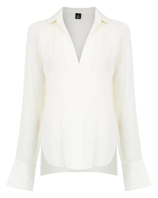 Osklen   White V-neck Shirt   Lyst