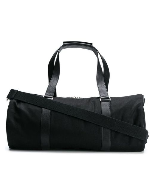 c6b9a7619bee Saint Laurent - Black Cylindrical Holdall for Men - Lyst ...