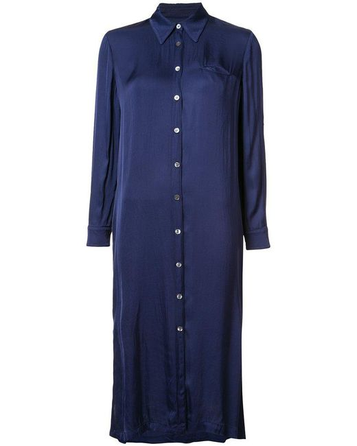 Raquel Allegra | Blue Midi Shirt Dress | Lyst