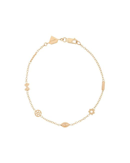 Alison Lou - Metallic 14kt Yellow Gold Mini Pasta By The Yard Bracelet - Lyst