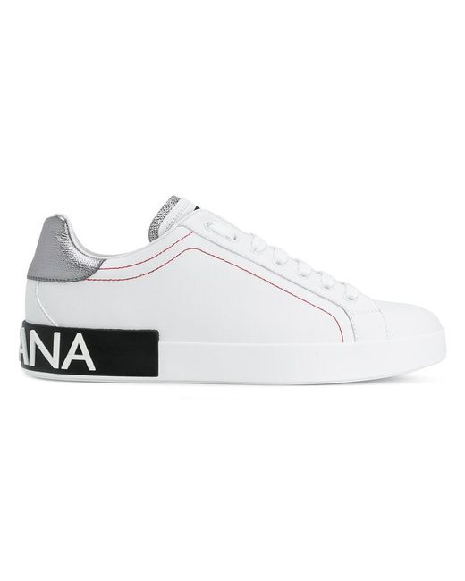 Dolce & Gabbana - White Logo Heel Sneakers for Men - Lyst
