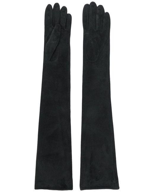Manokhi - Black Long Slim-fit Gloves - Lyst