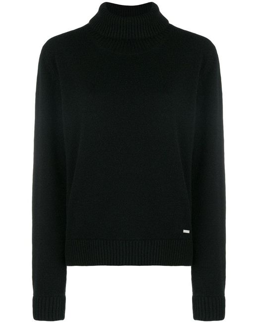 DSquared² - Black Roll Neck Sweater - Lyst