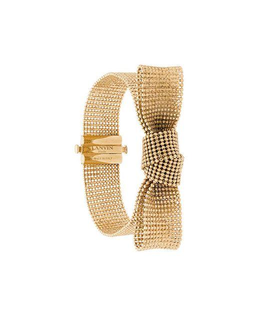 Lanvin - Metallic Bow Cuff Bracelet - Lyst