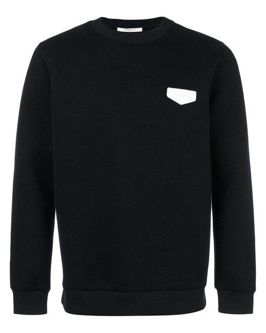 Givenchy | Black Logo Plaque Sweatshirt for Men | Lyst