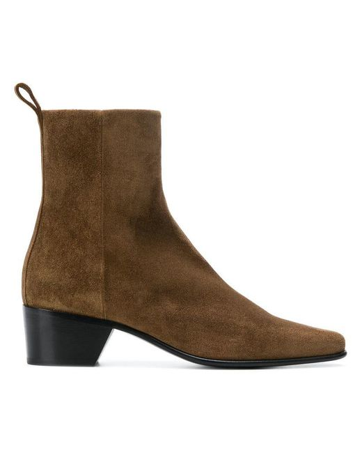 Pierre Hardy - Brown Suede Ankle Boots - Lyst