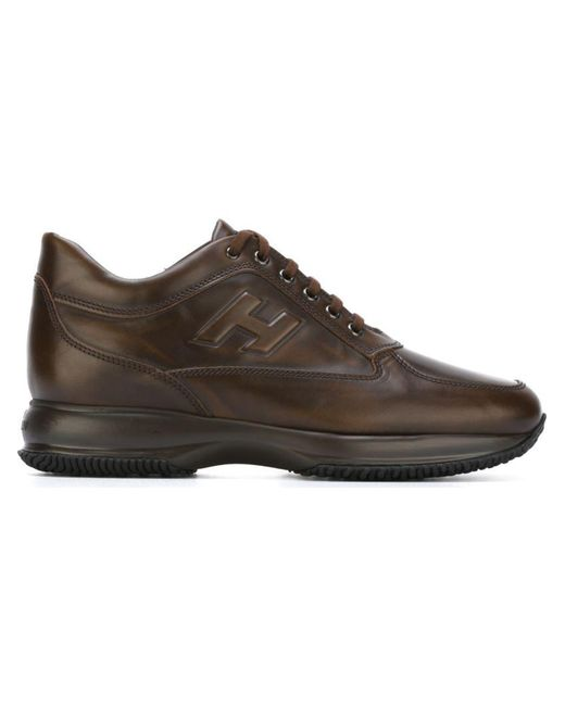 Hogan | Brown 'interactive' Sneakers for Men | Lyst
