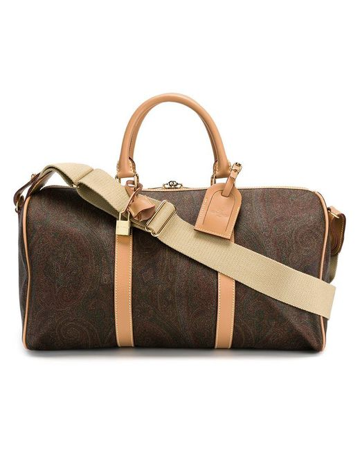Etro - Brown 'ameba' Weekend Bag for Men - Lyst