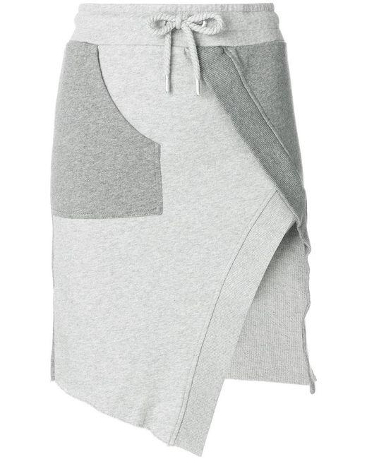 Each x Other - Gray Track-style Asymmetric Skirt - Lyst