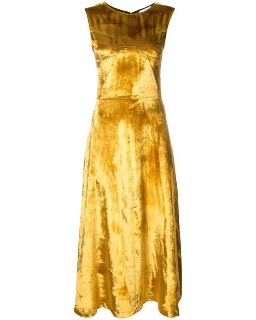 TOME | Yellow Flared Shift Dress | Lyst