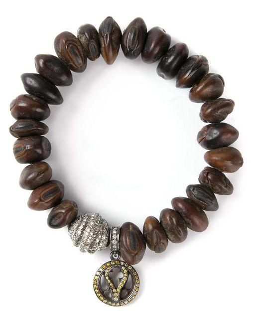 Loree Rodkin | Black Bead Diamaond Charm Bracelet | Lyst