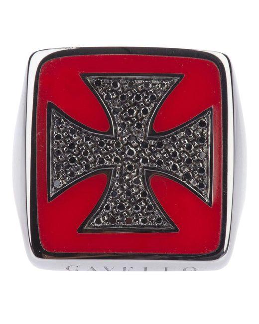 Gavello - Metallic Gold Cross Ring - Lyst