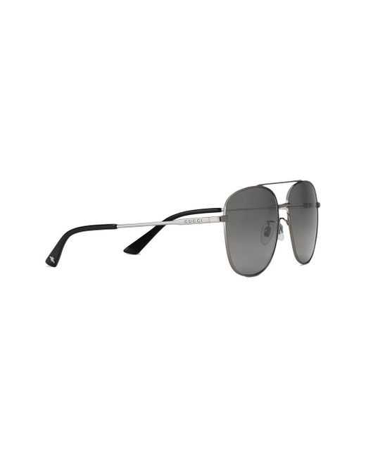 c7c647c7cb96 ... Gucci - Metallic Navigator Metal Sunglasses for Men - Lyst ...