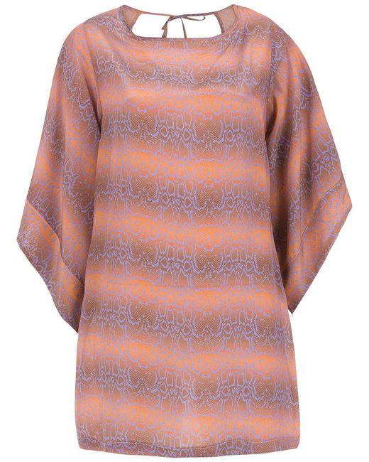 Amir Slama - Brown Silk Beache Dress - Lyst