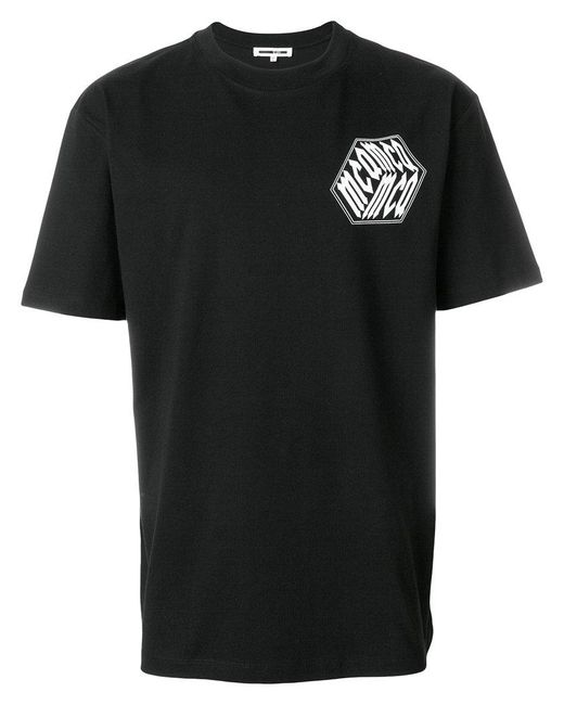 McQ Alexander McQueen - Black Graphic Patch T-shirt for Men - Lyst
