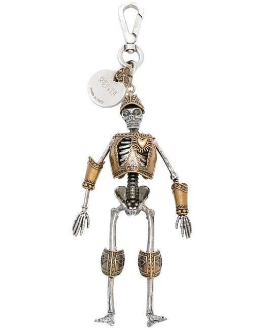 Alexander McQueen | Metallic Skeleton Keyring | Lyst