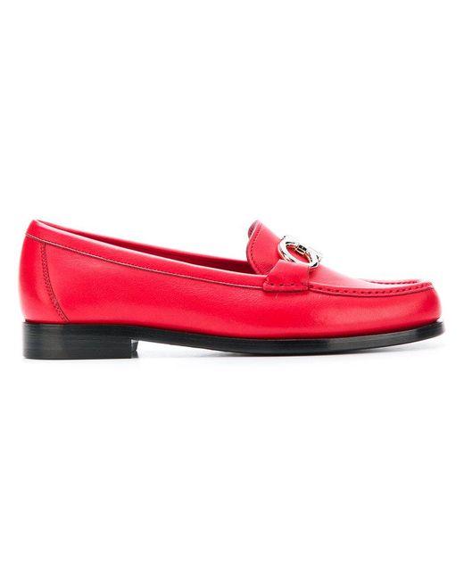 Ferragamo - Red Gancini Loafers - Lyst