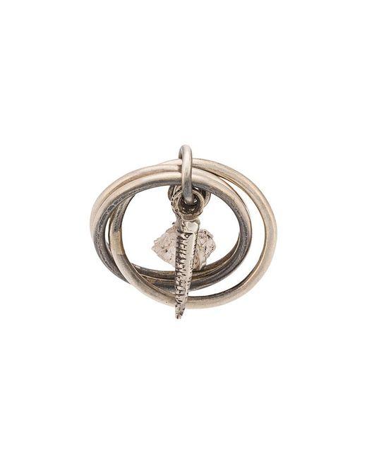 Ann Demeulemeester - Metallic Hanging Pendant Three Circle Ring - Lyst