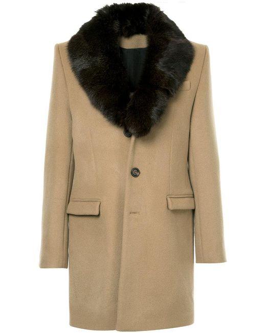 Yves Salomon - Brown Fur Lapel Coat for Men - Lyst