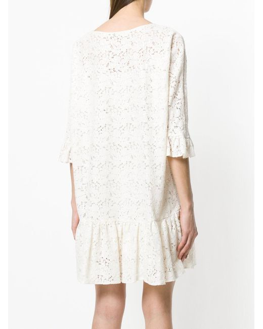 floral lace dress - Nude & Neutrals Blugirl Get New Shop For Online Sale Buy e5avfm