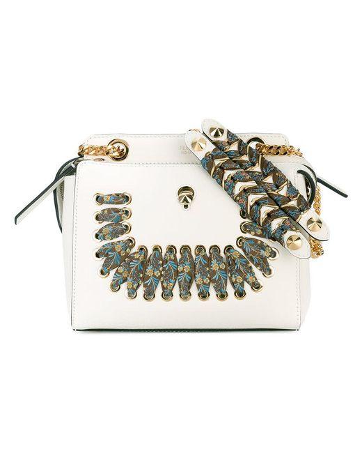 Fendi - White Small Dotcom Bag - Lyst
