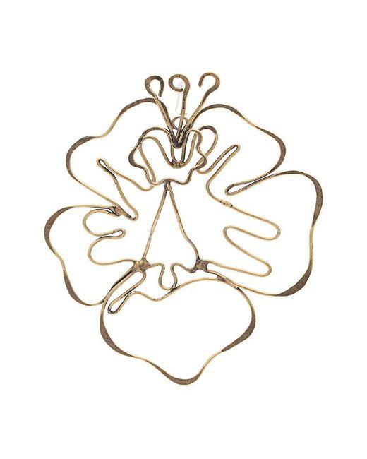 Rosie Assoulin - Metallic Floral Shape Earrings - Lyst