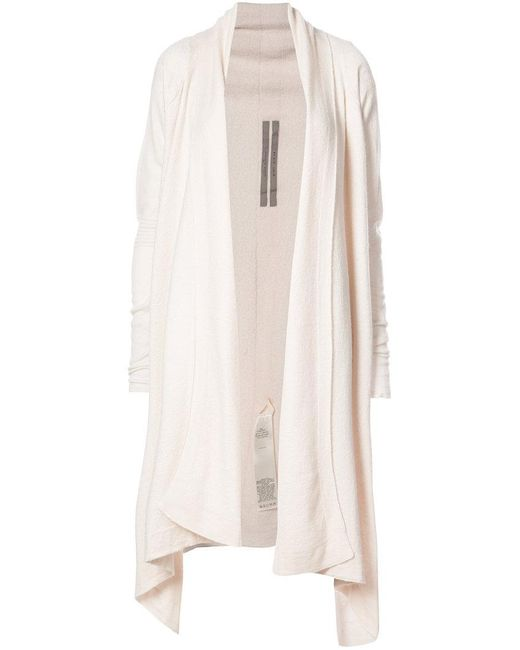 Rick Owens - White Row Wrap Cardigan - Lyst