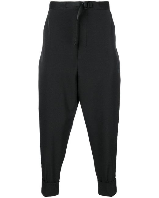 PT01 - Black Cropped Trousers for Men - Lyst