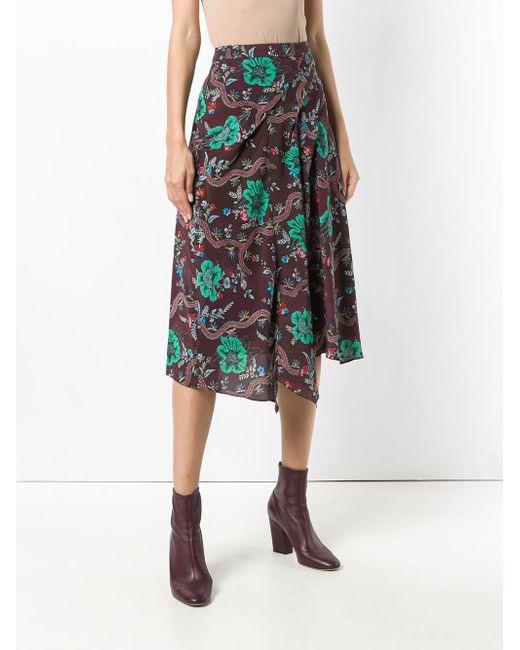 87c9d73a7d ... Isabel Marant - Red Cacia Skirt - Lyst ...
