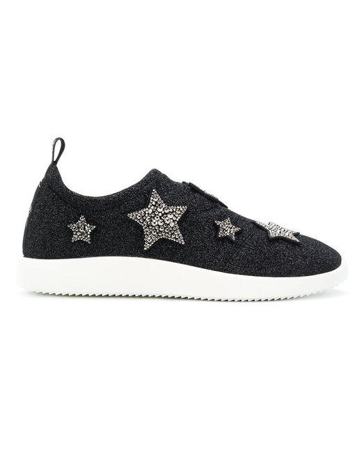 Giuseppe Zanotti - Black Alena Star Sneakers - Lyst