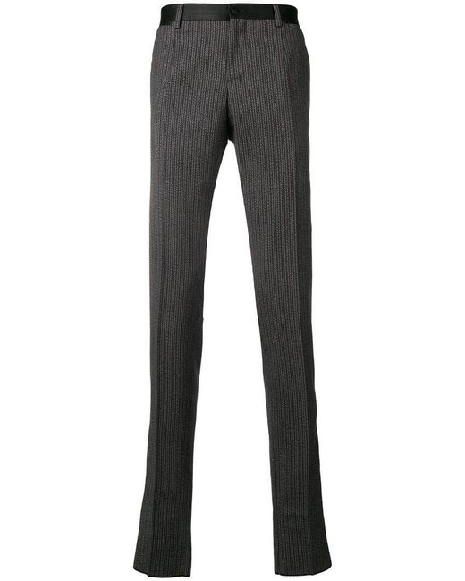 Dolce & Gabbana - Gray Tailored Fitted Trousers for Men - Lyst