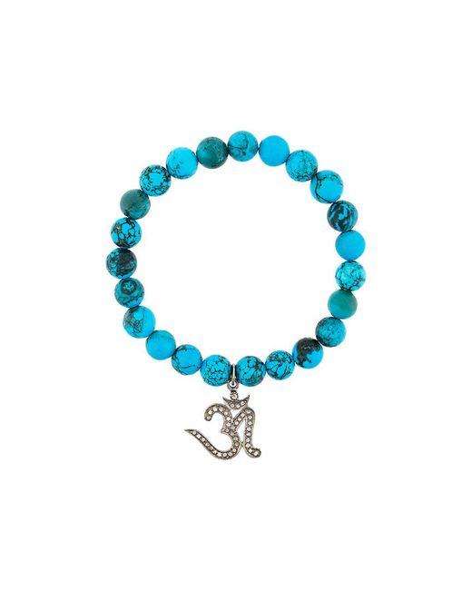 Gemco - Blue Beaded Diamond Charm Bracelet - Lyst