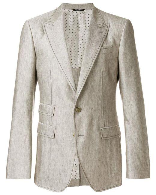 Dolce & Gabbana - Gray Contrast Stitched Blazer for Men - Lyst