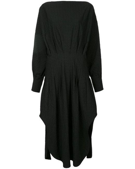 Christopher Esber - Black Multi-tuck Shirt Dress - Lyst