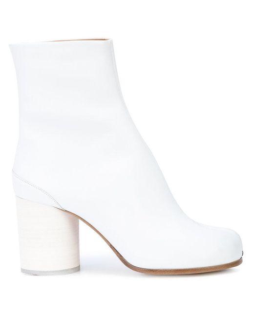 Maison Margiela - White 'tabi' Ankle Boots - Lyst