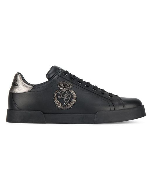 Dolce & Gabbana - Black Portofino Sneakers for Men - Lyst