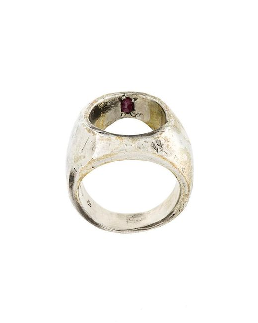 Henson - Metallic 'ruby Mine' Ring for Men - Lyst