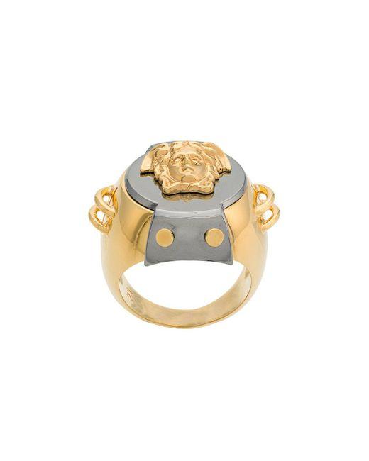 Versace - Metallic 'Medusa' Ring for Men - Lyst