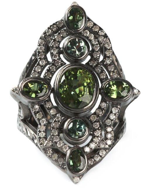 Loree Rodkin Black Embellished Ring
